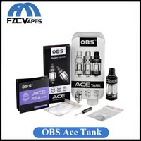 ace ceramic - Original OBS Ace Ceramic Coil Tank with RBA Deck Black SS Color Top Side Refilling Juice Airflow Control
