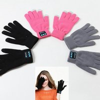 Wholesale Bluetooth Gloves Winter Touch Screen Gloves Built In Microphone For Mobile Phones Hand Free Gloves Full Finger Knitting Gloves PPA628
