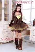 Wholesale Christmas Women Sexy Little Elk Cosplay Suit loaded Queen Stage Size Free size Brown Material Corduroy