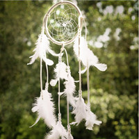 Wholesale Newest Handmade Dream Catcher with Feathers Hanging Decoration Craft decor Antique Imitation Enchanted Forest Dreamcatcher White Room Orna
