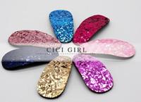 Wholesale Colorful Sequin Children Hair Barrettes Royal Blue Sequin Children Hair Jewelry Accessories