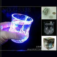 Wholesale 3 BEER COLA MUG WITH LED LIGHT FLASHING LED LIGHT UP DRINKWARE BEER MUG LED