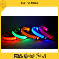 Wholesale high quality colors LED flashing dog collar pet necklace cat collar supplies freeshipping