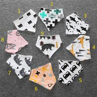 Wholesale 9 Styles Christmas cartoons INS fox bibs Burp Cloths new baby girls boys waterproof Pure cotton double layer bibs burp cloths B