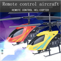 al por mayor luces rc-Nueva Versión Mini Helicóptero RC 3.7V Radio Control Remoto Aviones 3D 2.5 Canal Drone Copter Con Girocompás y Luces