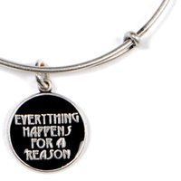 beads reason - Original bangles Alex and Ani Everything Happens for a Reason bangles Russian silver gold Charm Bangle copper Expandable Wire Bangles