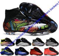 achat en gros de bottes de jeunes-Hommes Chaussures de football CR7 Mercurial x EA SPORTS Superfly FG Chaussures de football Magista Obra 2 Chaussures de football pour garçons Femmes Cristiano Ronaldo