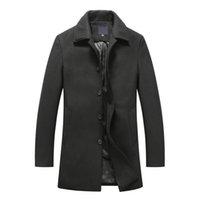 Wholesale 80 Wool Mens Wool Jacket Long Fashion Men s Down Coat Outwear for Autumn Winter