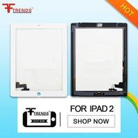 Asamblea de cristal blanca negra del botón de Digitaces de la pantalla táctil del panel delantero del AAA de la alta calidad + Home para el iPad 3 4 2 Envío libre