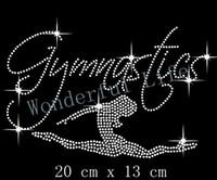 Wholesale Gymnastic Dancer Hotfix Rhiestone Transfer design motif iron on clothing