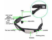 Wholesale Smart Sunglasses Bluetooth Headset Wireless Sports Headphone Sunglass Stereo Handsfree Earphones mp3 Music Player With Retail Package
