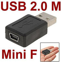 Wholesale Brand new and high quality USB type A male to B Female Mini Pin Converter Adapter