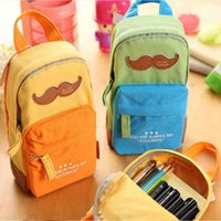 big back pack - Fashion big capacity canvas back pack pencil bag student pencil case pen curtain storage bag office school supplies stationery
