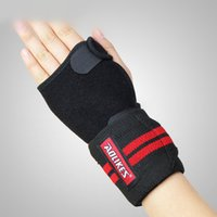 Cheap Aolikes Wrister Sport Protection Bandage For Hands Fitness Use Weight Lifting Nylon Material Size M L Black Color A-1674