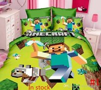 bedding sets usa - Hot selling Minecraft Bedding Set Pieces Kids Minecraft Bed Set USA twin Single Duvet Cover Set comforter sets