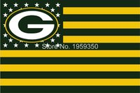 Wholesale Packers US flag with stars and stripes x5 FT Sport Team GB Banner Material Polyester WinCraft