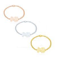 atmosphere sales - New European fashion ladies bracelet simple atmosphere vent pattern bear bracelet bracelet stainless steel jewelry production and sales jewe