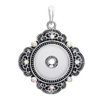ab slide - DHL FREE AB crystal rhinestones noosa charm pendants metal alloy snap button jewelry for DIY necklace