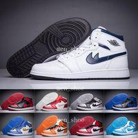 [Con Box] salto hombres baratos retro 1 alto roto tablero de baloncesto deporte zapatos hombre calificación zapatillas de deporte Size36-46