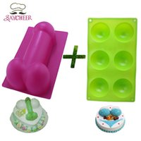 Wholesale Case Of Big Penis Ice Grid Cake Decorating Tools And Cavity Half Sphere Chocolate Cake Muffin Pastry Jello Silicone Mold