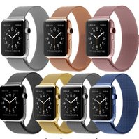 Wholesale HOT For Apple Watch iWatch Milanese Magnetic Loop Stainless Steel Watch Band Strap
