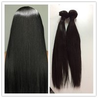 Wholesale Best quality straight human hair extensions A malaysian hair natural color bundles full head