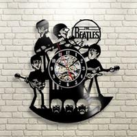beatles records - New Arrival Vinyl Record Wall Clock The Beatles Music Nursery Art CD Clock Watch Creative Duvar Saati Horloge Home Decorative