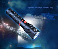 Wholesale 2017 Torch Light Charging Ultra Bright Long Shots Household Zoom Flashlight Outdoor Cycling Self Defense Lighting Flashlight Can Be Waterpro