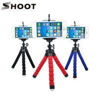 Wholesale 2017 New Mini Portable Flexible Sponge Octopus Tripod Stand Mount With Holder For Phone Gopro Camera Tripode for Nikon d3300 d3200 DSLR