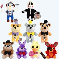 Wholesale Hot cm cm FNAF Five Nights at Freddy Bear Fox Bonnie Chica Golden Freddy Nightmare Fredbear Kids Plush Toys