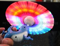 Wholesale New music light up flashing led sealion windmill with music hand smile flash toys popular Children kid gift toy MYY