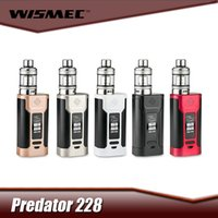 Wholesale WISMEC Predator with Elabo Kit Compact Dual Cells W Predator Mod with ML Elabo Atomizer Top Filling System