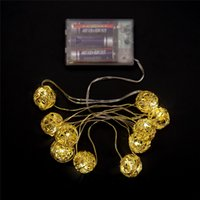 aa decor - LED Party Lights M LED Rattan Ball Lights Shinning Lights String Romantic Wedding Party Home Decor Decoration LED with AA Battery