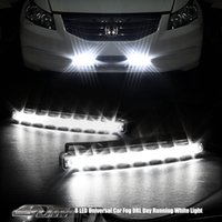 Wholesale IP67 Waterproof Day Lights Running Head Lamp Super White LED Super Bright White DRL Car Daytime Running Light Head Lamp Universal