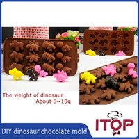 animal cake topper - Dinosaur dragon Animal Silicone Chocolate Ice Mold Sugercraft Cake Topper Soap