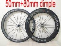 achat en gros de roues de vélo de route en carbone zipp-Vente en gros Zipp fossette surface 50mm + 80mm roue vélo roues de carbone Clinker / Tubular Wheelset route vélo / vélo