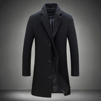Wholesale 2017 new men s spring and autumn new men s baseball collar young students in Clubman thin long coat color coat