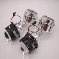 achat en gros de xénon bi phares de projecteur-2 pcs 2,5 pouces bi lentille xénon H1 H4 H7 BiXenon bi-xénon Objectif de projecteur moto voiture caché projecteur projecteur de la lentille