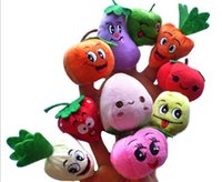 Wholesale kids toys Fruit Veggie Finger Puppets Set Educational Toys Stuffed Toys Different Fruits per set and Greenstuff