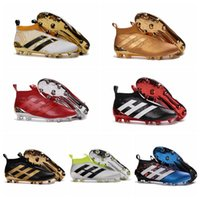 Wholesale Cheapest Best Winter Boots - ACE 16+ Purecontrol FG Football Boots Soccer Boots Mens Laceless Soccer Cleats New Cheap Best Quality Football Soccer Shoes Stellar Pack