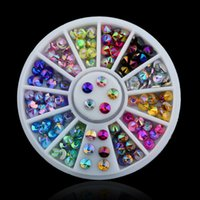 Wholesale Color D Nail Art Tips Gems Crystal Nail Glitter Rhinestone DIY Nail Decoration Wheel