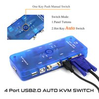 Wholesale KVM Switcher Mouse Video Keyboard Console Ports USB Mhz New Auto switch control PC Use monitor