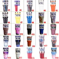 Wholesale 50 color In Stock OZ Tumbler Rambler Cups OZ Camo Tumbler Mugs Travel Vehicle Beer Mug
