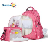 Wholesale SUNVENO Waterproof Diaper Nappy Bag Organizer Multifunctional Mummy Maternity Bag with Small Bag Inside