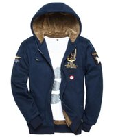 air force hoods - Air Force One thickening sweater men s military men s hood winter men s sweaters men s large size