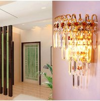 Wholesale Modern Crystal Wall Lamp Chrome Wall Sconce Bedside Living Room Wall Light Lamp Guaranteed for Living room