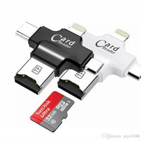 Wholesale 4 in iFlash Drive USB Micro SD TF OTG Card Reader for iPhone samsung s7 s6 type c pc