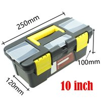 Wholesale Home Hardware plastic toolbox tool box with handle inches Toolbox with free lock keyhole automobile
