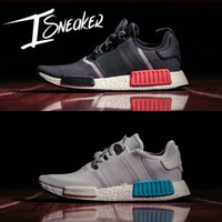 Wholesale 2017 Discount Cheap NMD Runner Primeknit Sales White Red Blue NMD Runner Sports Shoes Men Woman NMD Running Boost with Box