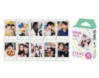 Wholesale High Quality Instax Film Mini Stripe Instant Photo Film For Mini s s Polaroid Instant Camera